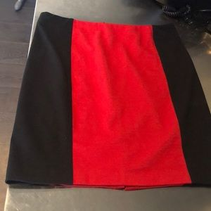 Michael kors red and black skirt